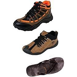 Maddy Men's Combo Of 3 Shoe - 2 Shoes & 1 Slipper(9)