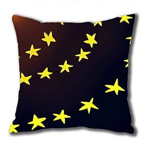 iCustomonline étoiles brillantes à fermeture Éclair de Coussin carré 45 x 45 cm (deux côtés)