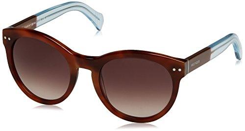 Tommy hilfiger th 1291/n/s j6 m9g 52, occhiali da sole donna, marrone (hvnbrwazu/brown sf)