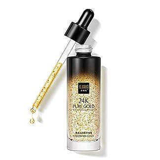Onkessy Suero de esencia de 24k Hidratante Reducción de poros Arrugas Arrugas y líneas finas Maquillaje reductor de cicatrices de acné Serum facial