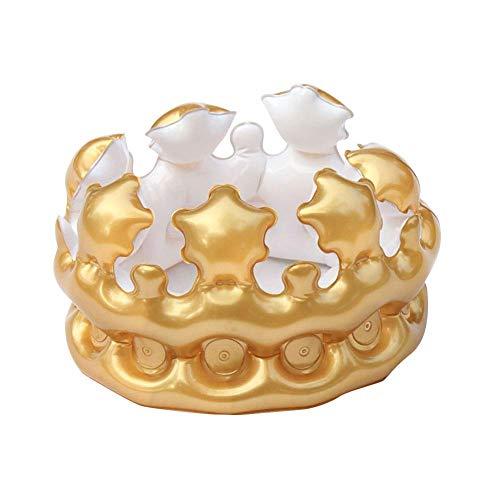 König Kostüm Königin - Vektenxi Aufblasbare Krone König Königin Kostüm Geburtstag Party Hut Cap Foto Requisiten liefert 21 cm x 15 cm Golden L langlebig und praktisch