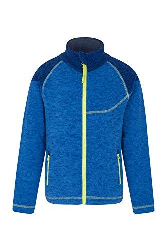 Mountain Warehouse Snowdonia Fleecejacke für Kinder - Weichee Sportliche Jacke, Leicht, Schnelltrocknend, Taschen, pillingfreies Oberteil, praktisch - Für Den Alltag Kobalt 116 (5-6 Jahre)