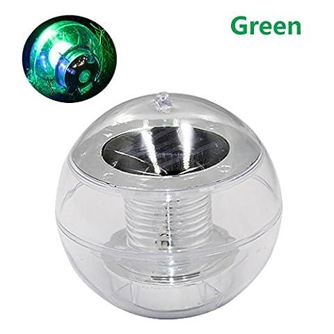 ESAILQ Solar LED Outdoor Pfad Licht Spot Lampe Yard Garten Rasen Landschaft wasserdicht (Grün)