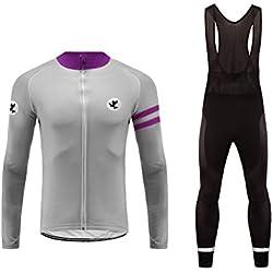 Uglyfrog Vêtements de Cyclisme Homme Hiver Manches Longues Veste de Cyclisme + Pantalon Rembourré 3D pour Hommes Hiver Set Polaire Vêtement de Cyclisme Vêtements HSuitZR09