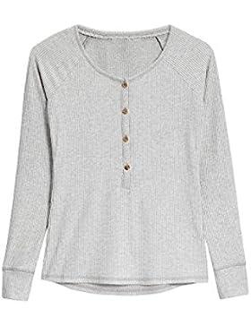 next Mujer Camiseta Cómoda Cuello Henley