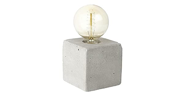 Lampada In Cemento Fai Da Te : Pureday lampada da tavolo cubo effetto cemento calcestruzzo grigio