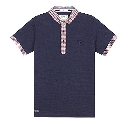 j-by-jasper-conran-kids-designer-boys-navy-gingham-collar-polo-shirt-age-5-6