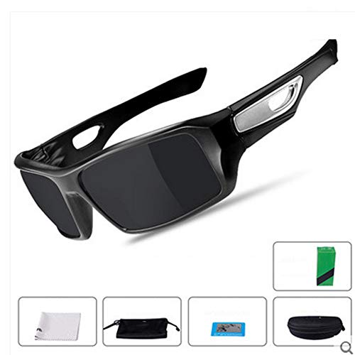 YJglasses Männer und Frauen, die Sonnenbrille-im Freiensport-polarisierte Glas-Sport-Fischen-Golf-Schutzbrillen-Ausrüstung Fahren,BlackSilver
