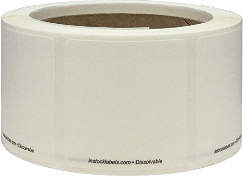 Vacio Dissolvable Vida Alimentaria Rotación Pegatinas, 51 mm 2 Pulgadas Cuadrado, 500 Etiquetas en un Rollo