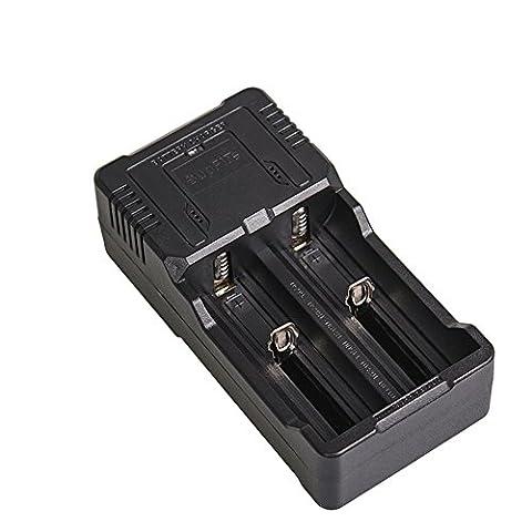 SupFire USB Multifonction Portable Double Fente Li-ion Chargeur pour 18650 18490 26650 16340 14550 10440 Batterie au Lithium Rechargeable