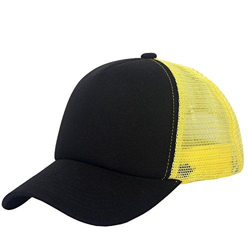 oriental spring - Gorra de béisbol - para hombre amarillo Yellow Black  Talla única a5aae9c22af