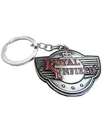 Royal Enfield Bullet Silver Grey Metal Keychain & Keyring For Bike Lover