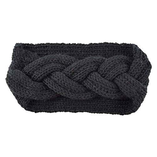 Timlatte Women Crochet Twist Knitted Headwrap Braid Ear Warmer Hairband Stretchy Makeup Shower Everyday Headband -