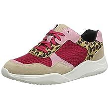 Clarks Women's Sift Lace Low-Top Sneakers, Black (Leopard Print Leopard Print), 3.5 UK