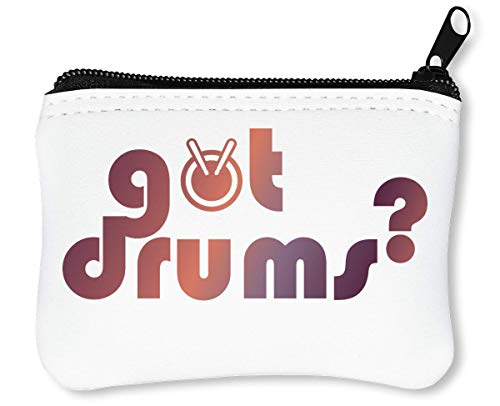 Got Drums? Reißverschluss-Geldbörse Brieftasche Geldbörse -