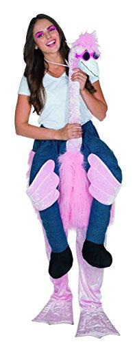 MOTTOLAND Karneval Huckepack Kostüm Flamingo ()