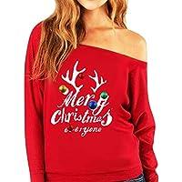 Geili Damen Frohe Weihnachten Frauen Merry Christmas Drucken Tägliche Party Active Langarm Schulterfrei Überraschung... preisvergleich bei billige-tabletten.eu