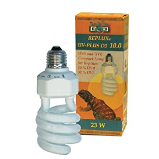 Namiba Terra 1632 Replux UV-Plus D3 Desert Light Bulb for Reptile Tank Ultra-Violet 23/30% UVA / 10% UVB with Integrated Ballast 41vIys1lCrL
