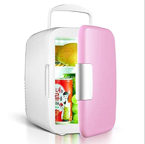 JYSPORT Kühl Kühlschrank 7.5 l PKW Gefrier-Box Tragbarer Mini-Gefriertruhe Heißer und kalter Gefrier (4L pink)