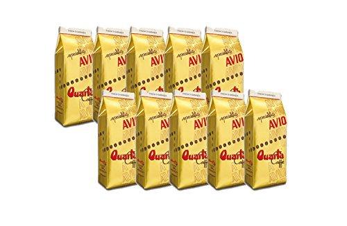 Caffè Quarta Avio Oro macinato. N. 10 confezioni da 250 g. Caffè italiano pugliese salentino prodotto e confezionato in Salento....