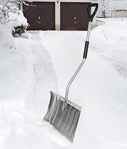 WOLTU #145 Schneeschaufel Schneeschieber Schneeschippe Aluminium Schaufel mit Thermogriff Länge:130cm(2751 Silber) - 7
