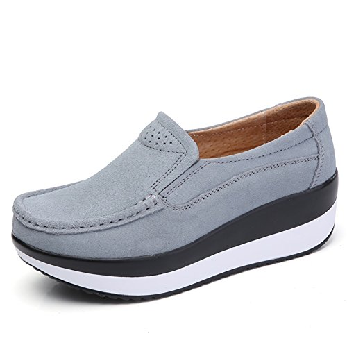 9f65234584a5f SHINIK Womens's Shoes New Slip On Lazy Shoes Leather Thick Bottom ...