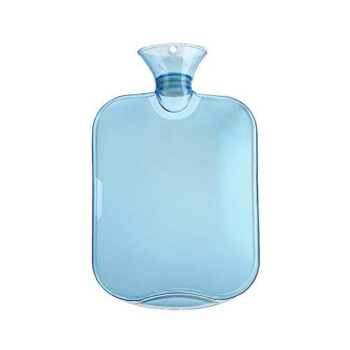 AAGOOD Große Flasche Extra Warmwasser Warmwasser verdicken Klare PVC-Beutel Wasserflasche höchster Qualität Gummi für eine bessere Isolierung 2000 ml / 67,3 Unzen Blau