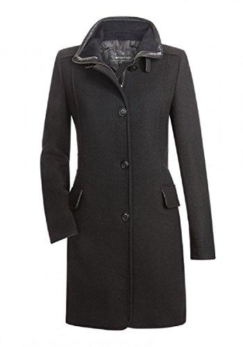 65aab95aaeda Eleganter Milestone Damen Mantel Wollmantel Wintermantel Rosalie Schwarz  Tailliert Stehkragen Woll Mix Gr. 34 - 46 (44)