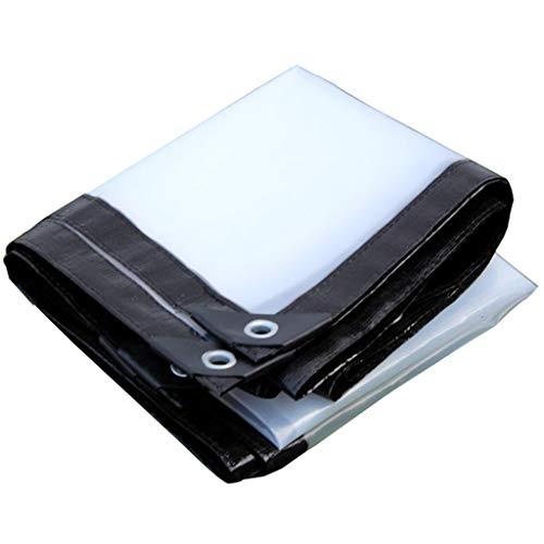 QUNA Trasparente tarpaulin Cover Heavy Duty - Telo trasparente PE con occhielli Telo multiplo per serra,3x10m/9x30ft