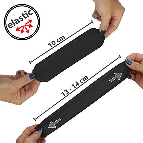 6 x Kinesiologie Tape 5 cm x 5 m in verschiedenen Farben von Alpidex, Farbe:schwarz - 5