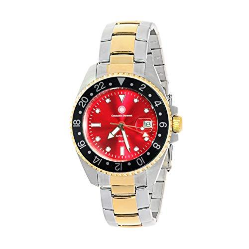 Constantin Durmont Unisex Erwachsene Analog Automatik Uhr mit Edelstahl Armband Cavity Automatic GMT 130729
