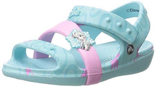 Crocs Keeley Disney Frozen Fever Sandal K Girls Sandals [Shoes]_202707-4O9-C5  available at amazon for Rs.698