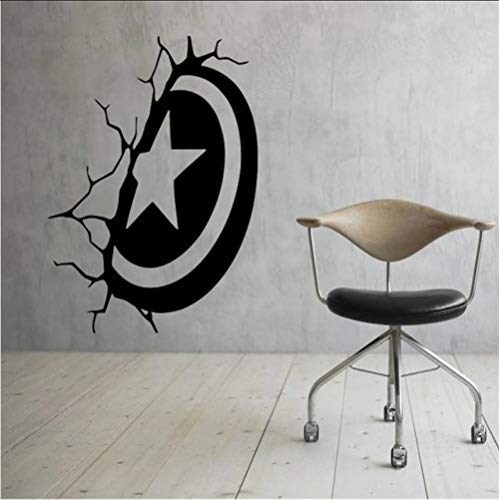 Preisvergleich Produktbild mmwin Wandtattoo Captain America Schild Vinyl Wandaufkleber Marvel Comics Innen Haus Dekoration Kinder Removable Home Art Decor 57 * 57 cm