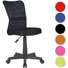 SixBros. Bürostuhl Drehstuhl Schreibtischstuhl Schwarz - H-298F/2064