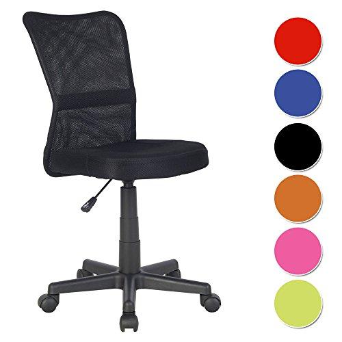 SixBros. Bürostuhl Drehstuhl Schreibtischstuhl Schwarz - H-298F/2064 thumbnail