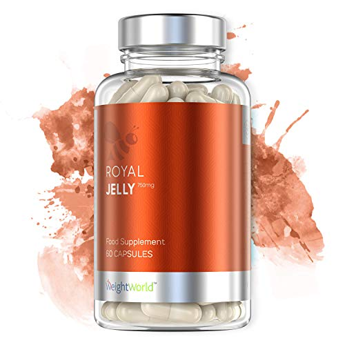 ROYAL JELLY - GELÉE ROYALE - Propolis Pure - Favorise Concentration & Mémoire - Soutient des Défenses Immunitaires - Extraction Écologique et Durable - Végans - 60 gélules - WeightWorld