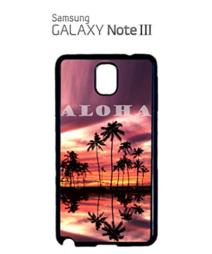 Aloha Sunset Hawaii Funny Hipster Swag Mobile Phone Case Back Cover Coque Housse Etui Noir Blanc pour Samsung Note 2 Black Blanc