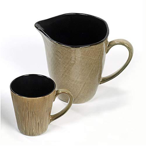 Lambert - Kalimera - Henkelbecher/Kaffeebecher - Sterndekor - Wüstensand/Beige - H: 11,5 cm - Lieferumfang: NUR Becher!