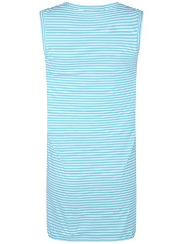 oodji Ultra Femme Robe en Maille Piquée Bleu (7010S)