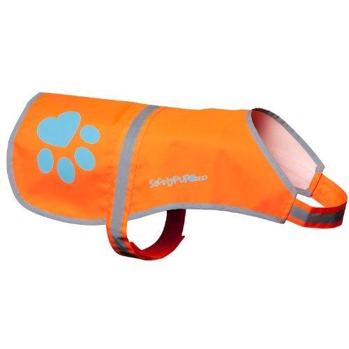 SafetyPUP XD Hund Warnweste, Größen passen Hunde 14 lbs bis 130 lbs Orange Klein