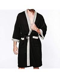 Albornoz Batas De Baño para Hombres Bata De Baño Toallas Pijamas Lujo Extra Larga Ropa De
