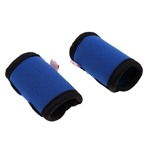 Baoblaze Hunde Kniebandage Gelenkschutz Bandage für Vorderbein oder Hinterbein, 2er/Set - Blau M