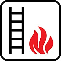 "Emergency Ladder Fire Escape Fire Emergency Hospitality Hotels Motels SIGNVinyl Hazard Sign Property Private Warning Signs Metal Aluminum Home Hence Yard Sign Safety Sign 8""x12"""