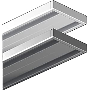 Garduna 120cm | Silber | Gardinenschiene Vorhangschiene| Aluminium | 1- oder 2-läufig