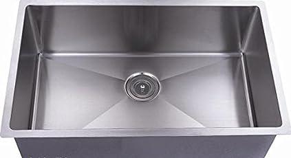 TAVISHPremium Sink/Luxury Kitchen Sink 24 * 18 * 9 Hand Made in MAT Finished Squre Bowl|| Thickness- 1.2 MM || Weight: 7.5 kg ||