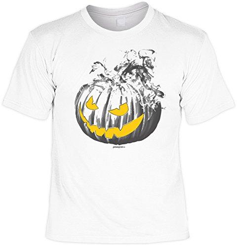 Kürbis Burning Pumpkin - gruseliges Shirt als lustige Alternative zum Halloween Kostüm (Zombie-gesicht-ideen Für Halloween)