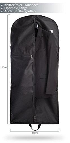 Argiox - Portatrajes de viaje negro negro small
