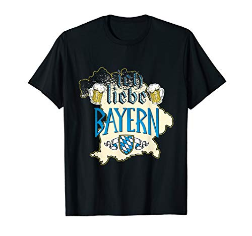 Oktoberfest Wiesn München Ich liebe Bayern Bier Kostüm 2019 T-Shirt (Ich Liebe Bier Kostüm)