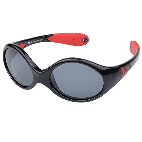 Duco Kids Sports Style Polarized Sunglasses TPEE Flexible Frame Glasses For Boys And Girls K012