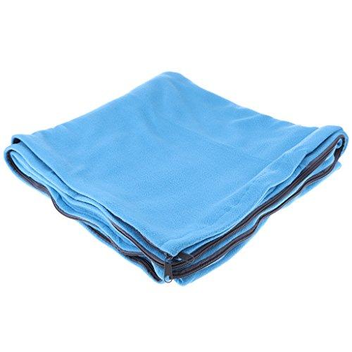MagiDeal Schlafsack Inlett / als Outdoor Schlafdecke (Polar Fleece) mit Aufbewahrungsbeutel, Warm und Weich, Komfortabel / Ideal für Reise, Camping, Outdoor, Auto, Wandern - Blau Polar-fleece Liner